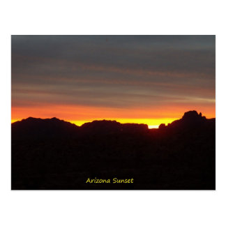 Arizona Sunset Postcard