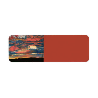 Arizona Sunset Return Address Label
