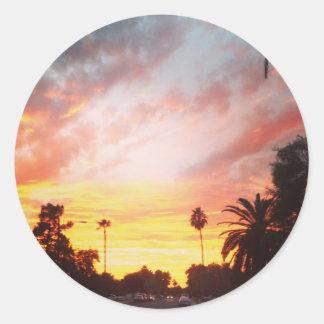 Arizona Sunset Round Sticker