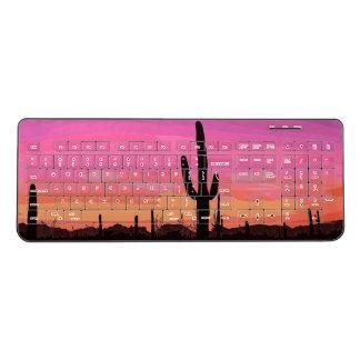 Arizona Sunset Saguaro Cactus Desert Keyboard