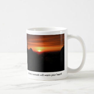 Arizona sunsets will warm your heart on a cold day basic white mug