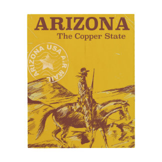 Arizona the copper state vintage travel poster