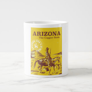 Arizona the copper state vintage travel poster large coffee mug