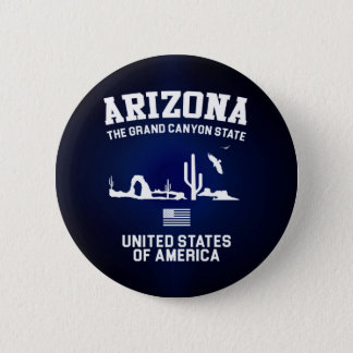 Arizona The Grand Canyon State 6 Cm Round Badge