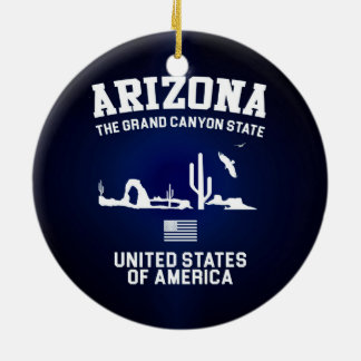 Arizona The Grand Canyon State Ceramic Ornament