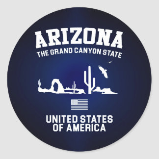 Arizona The Grand Canyon State Classic Round Sticker