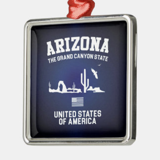 Arizona The Grand Canyon State Metal Ornament