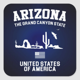 Arizona The Grand Canyon State Square Sticker