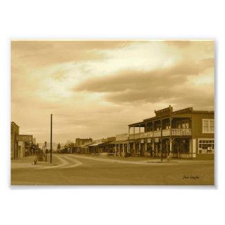 Arizona Tombstone Main Street Sepia Photo Print