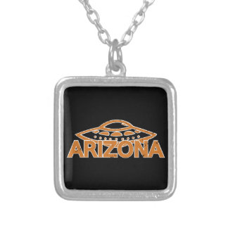 Arizona UFO Silver Plated Necklace