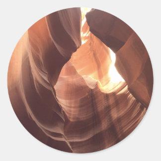 ARIZONA - Upper Antelope Canyon C - Red Rock Classic Round Sticker