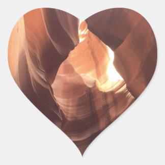 ARIZONA - Upper Antelope Canyon C - Red Rock Heart Sticker