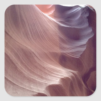 ARIZONA - Upper Antelope Canyon D2 - Red Rock Square Sticker