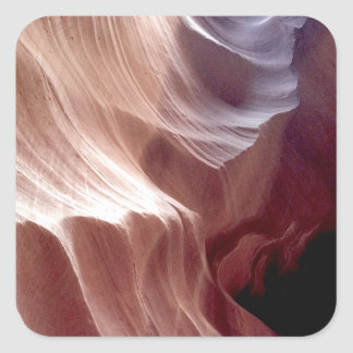 ARIZONA - Upper Antelope Canyon D - Red Rock Square Sticker