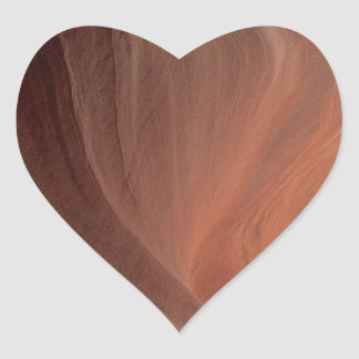 ARIZONA - Upper Antelope Canyon E - Red Rock Heart Sticker
