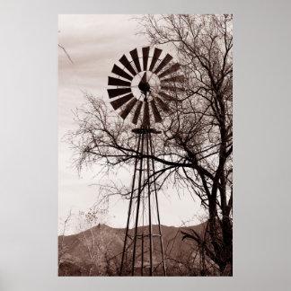 Arizona Windmill Poster