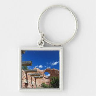 Arizona, Window Rock. Capital of the Navajo Silver-Colored Square Key Ring