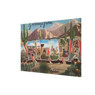ArizonaCactusLarge Letter ScenesArizona Canvas Print