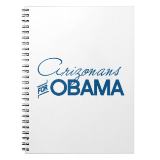 Arizonans for Obama -.png Spiral Note Book