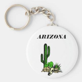Arizona's Cactusand skull keychain