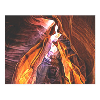 Arizona's Splendid and Majestic - Antelope Canyon Postcard