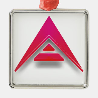 ARK in 3D Silver-Colored Square Decoration