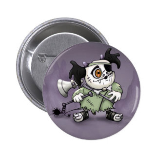 ARKACHON CUTE MONSTER ALIEN Button  2¼ Inch