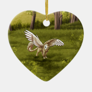 Arkaen - Barn Owl Gryphon Ceramic Ornament