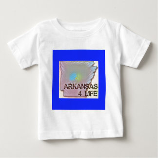 """Arkansas 4 Life"" State Map Pride Design Baby T-Shirt"