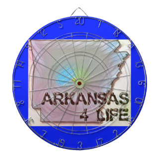 """Arkansas 4 Life"" State Map Pride Design Dartboard"