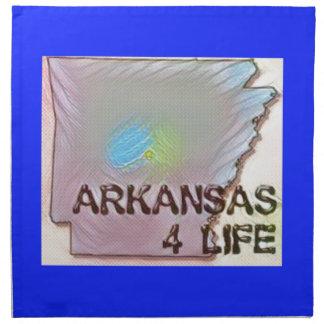 """Arkansas 4 Life"" State Map Pride Design Napkin"