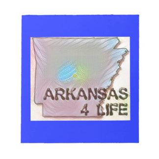 """Arkansas 4 Life"" State Map Pride Design Notepad"