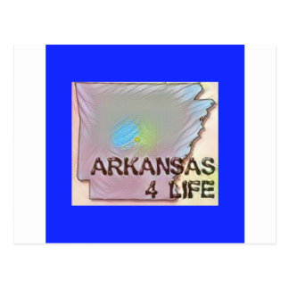 """Arkansas 4 Life"" State Map Pride Design Postcard"