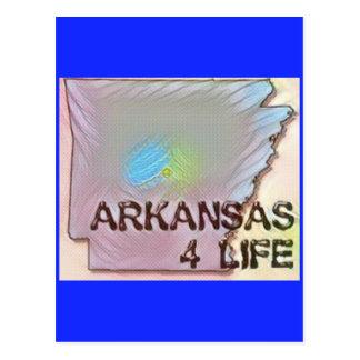 """Arkansas 4 Life"" State Map Pride Design Postcard"