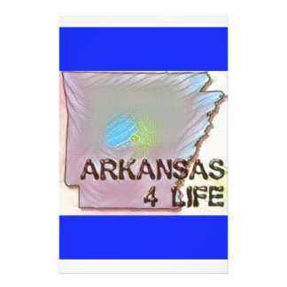 """Arkansas 4 Life"" State Map Pride Design Stationery"