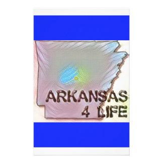 """Arkansas 4 Life"" State Map Pride Design Stationery Paper"