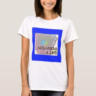 """Arkansas 4 Life"" State Map Pride Design T-Shirt"