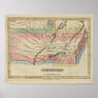 Arkansas and Oklahoma region Poster