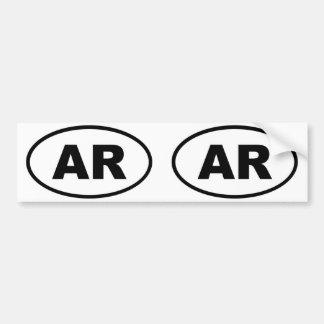 Arkansas AR oval Bumper Stickers