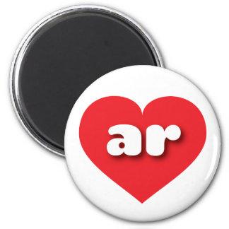 Arkansas ar red heart refrigerator magnet
