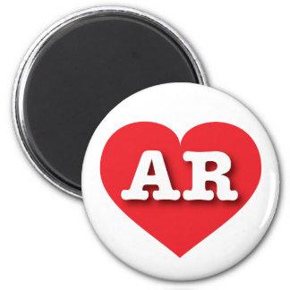 Arkansas AR red heart Magnet