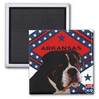 Arkansas Boxer Square Magnet