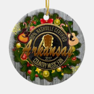 Arkansas Country Music Fan Christmas Ornament