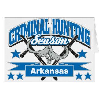 Arkansas Criminal Hunting Season Card