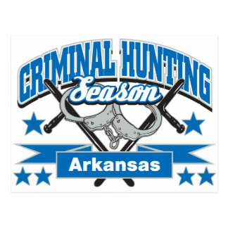 Arkansas Criminal Hunting Season Postcard