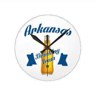 Arkansas Drinking team Round Clock
