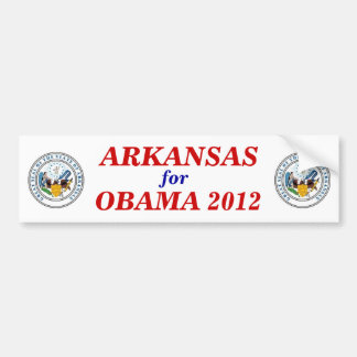 Arkansas for Obama 2012 sticker Car Bumper Sticker