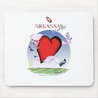 arkansas head heart, tony fernandes mouse pad
