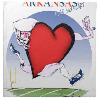 arkansas head heart, tony fernandes napkin