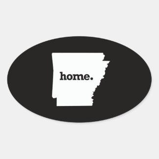 Arkansas Home Oval Sticker